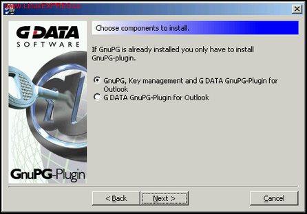 Obrázek: Instalace GnuPG-Pluginu od společnosti G DATA
