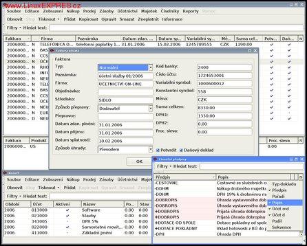 Obrázek:Účetnictví on-line – Finanční předpisy