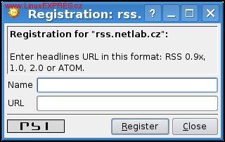 Obrázek: RSS čtečka v Jabberu