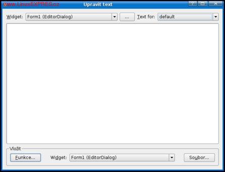 Obrázek: Místo pro psaní kódu Kommanderu