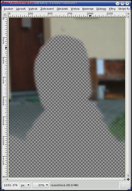 Obrázek: Plynule rozostřená vrstva
