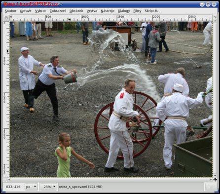 Obrázek:Výchozí fotografie pro kopírování části obrazu