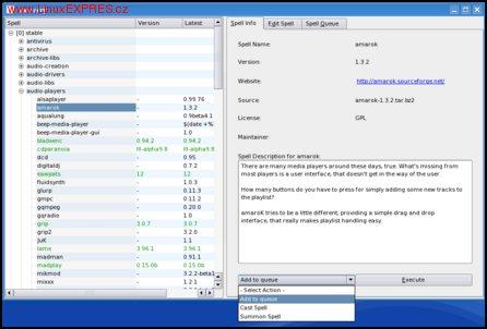 Obrázek: Program ksorcery – pohodlná správa balíků