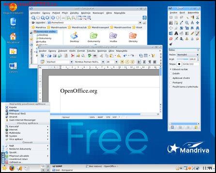 Obrázek: Pracovní plocha Mandrivy 2007 - KDE