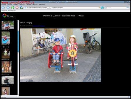 Obrázek:  Prezentace formou webových stránek