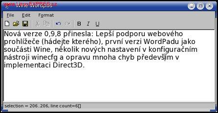 Obrázek: Wordpad
