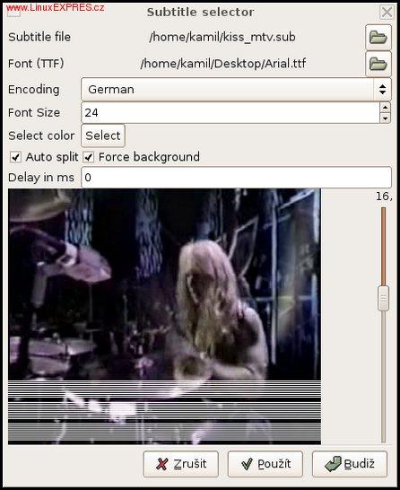 Obrázek: Okno po nastavení titulků