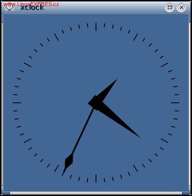 Obrázek: Program xclock je velmi jednoduchý – prostě hodiny