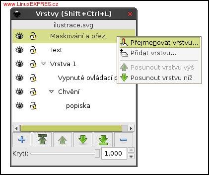 Obrázek: Dialogové okno pro práci s vrstvami