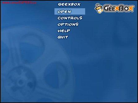 Obrázek:Distribúcia GeeXBoX po spustení