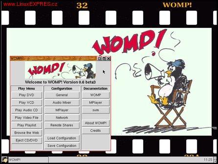 Obrázek:Pracovná plocha distribúcie WOMP!