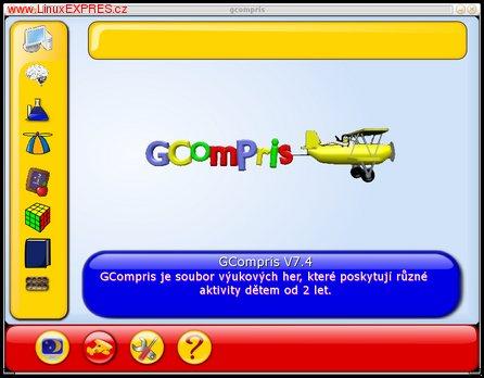 Obrázek: Úvodní obrazovka GCompris