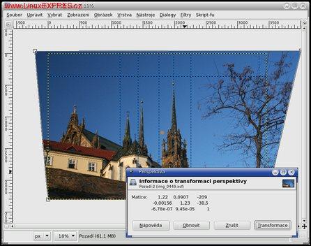 Obrázek: Úprava perspektivy