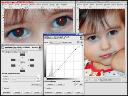 Obrázek: Oprava červených očí