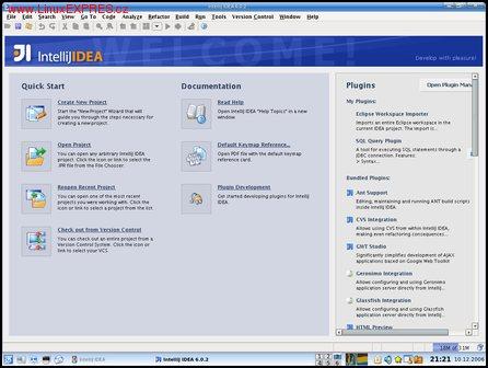 Obrázek: IntelliJ IDEA 6.0 po spuštění
