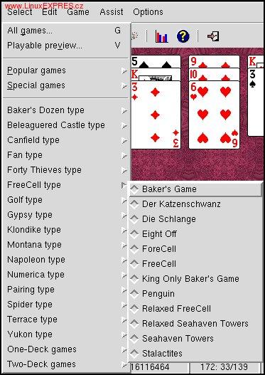 Obrázek: Výber hry zo zoznamu