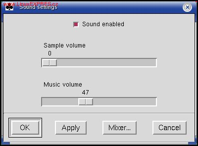 Obrázek: Nastavenie parametrov hudobného pozadia