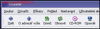 Obrázek: Ikony pro rychlý přístup k diskům