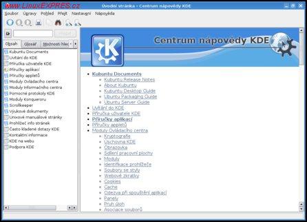 Obrázek:Centrum nápovědy KDE