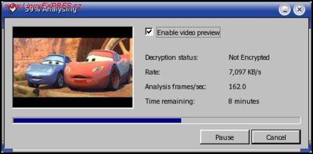 Obrázek: Analýza video DVD disku