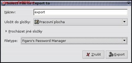 Obrázek: Export záznamů do souboru
