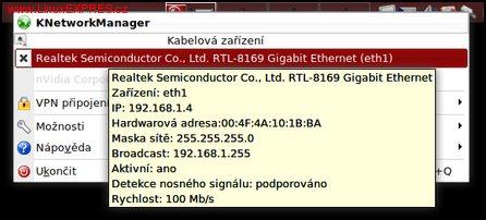 Obrázek: KNetworkManager vám pomůže s připojením k síti