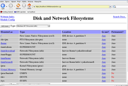 Připojené souborové systémy