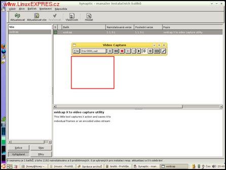 Obrázek: Ukázka programu xvidcap