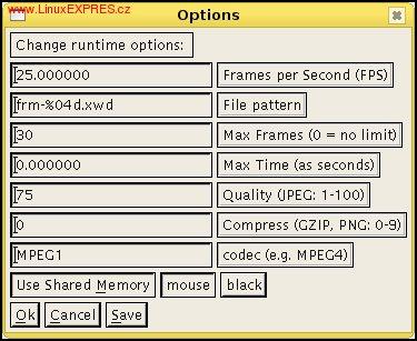 Obrázek: Ukázka nastavení programu